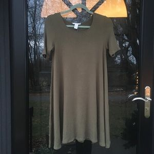 Forever 21 Green Cotton Shift Dress Size Small